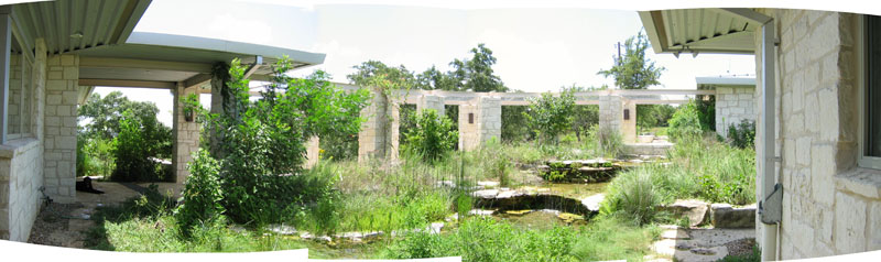 Avera Res - waterfall courtyard panorama 2